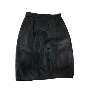 Capezio Black Leather Skirt 24 inch Waist